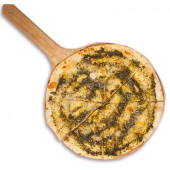 фокачо з соусом песто та сиром пармезан